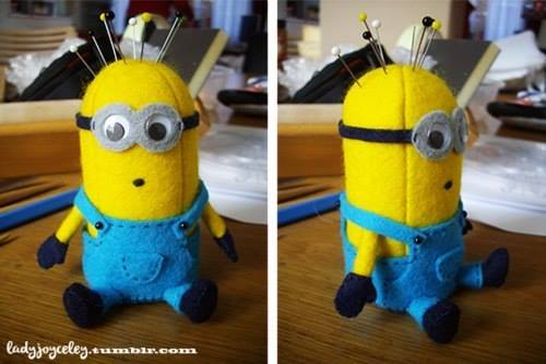 DIY Minion Pin Cushion 2