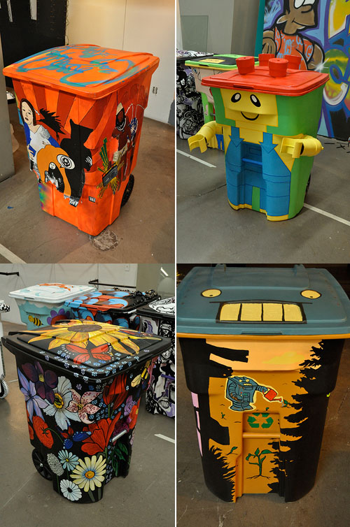 Diy garbage can art ideas how to instructions for Art from waste ideas