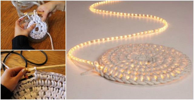 Glow In The Dark Rope Rug Crochet Tutorial