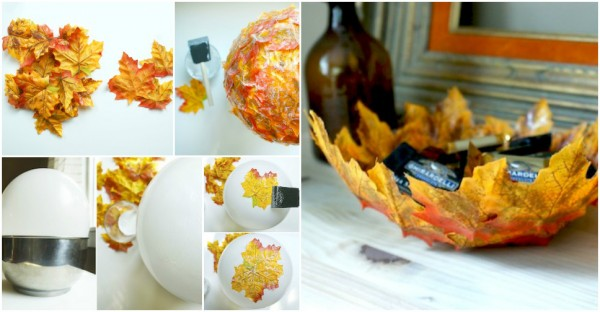 How To Make Autumn Leaf Bowls