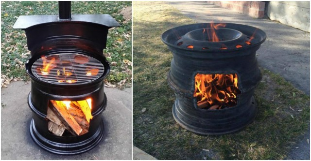 How To Make BBQ Grill With Car Rims 1