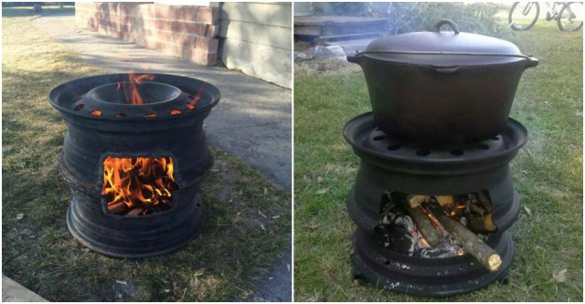 How To Make BBQ Grill With Car Rims