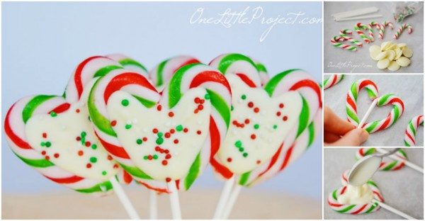 How To Make Candy Cane Heart Pops