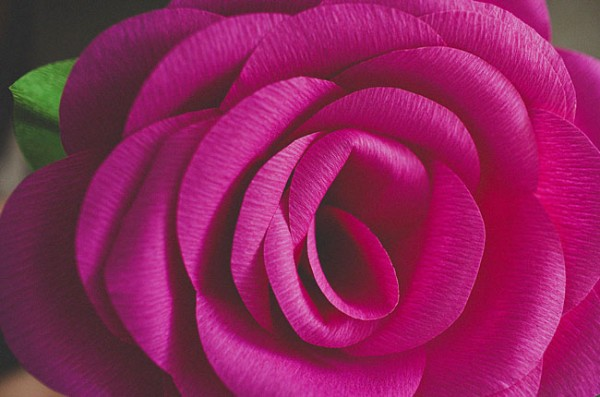 How To Make Crepe Paper Roses 2