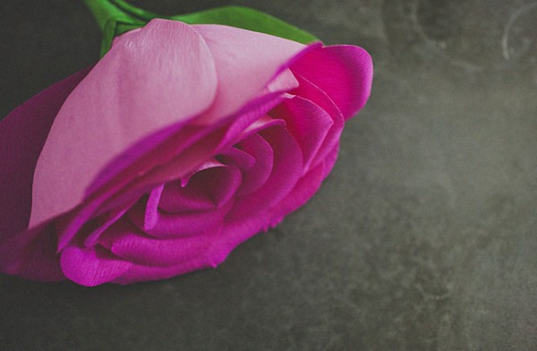 How To Make Crepe Paper Roses 4