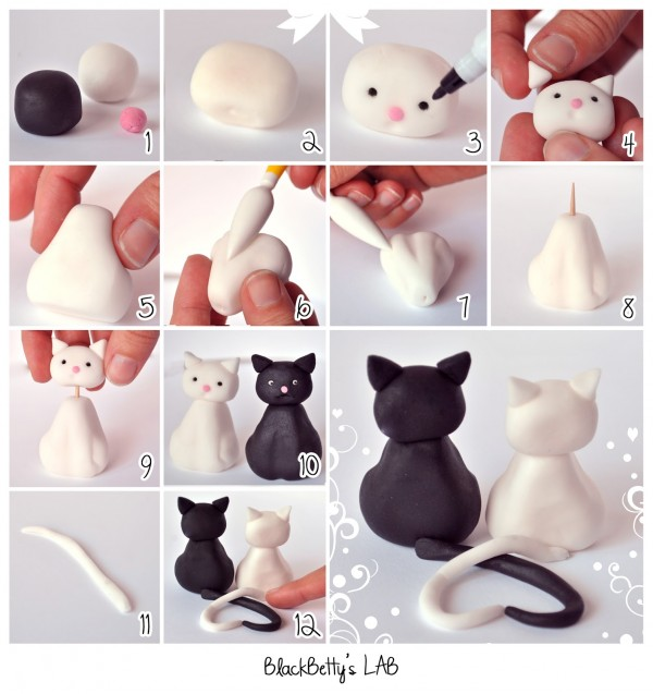 How To Make Cute Clay Kitty Cats 2