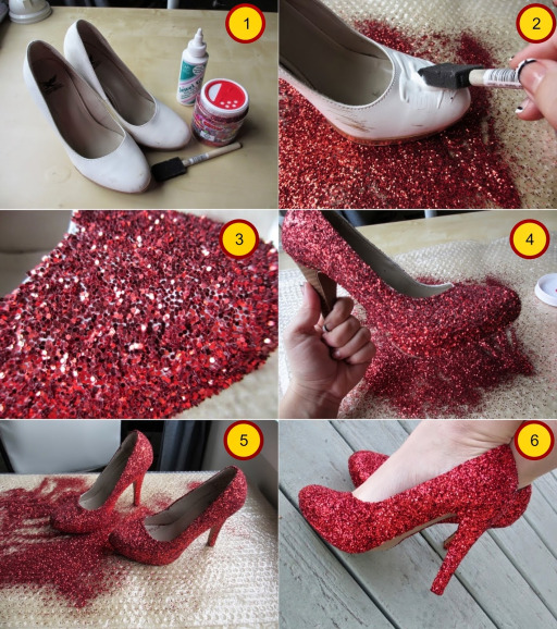 How To Make Glitter Shoes 1