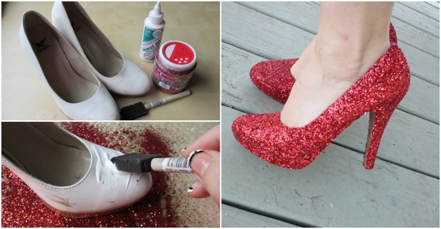 How To Make DIY Glitter Shoes