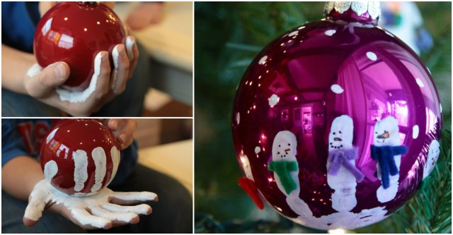 How To Make Hand Print Snowman Ornaments