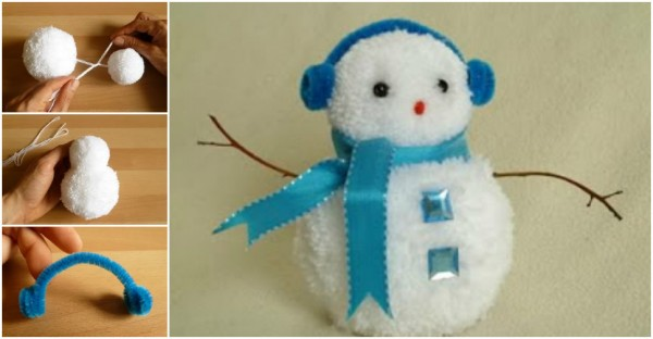 How To Make Pom Pom Snowman