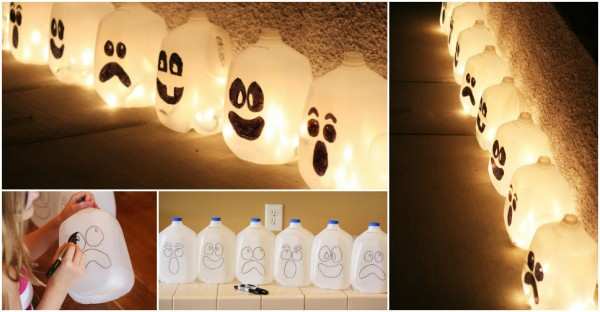 How To Make Spirit Lights With Milk Jugs