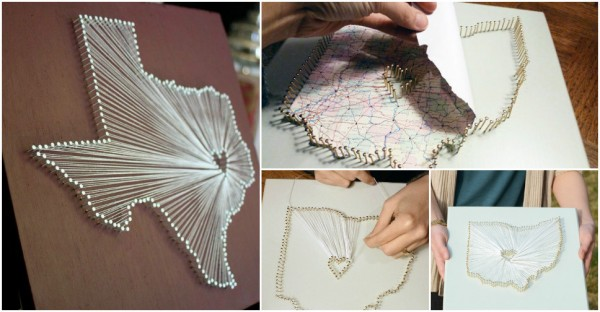 How To Make String Map Wall Art