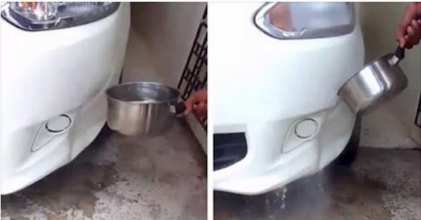 Paintless Dent Repair With Boiling Water