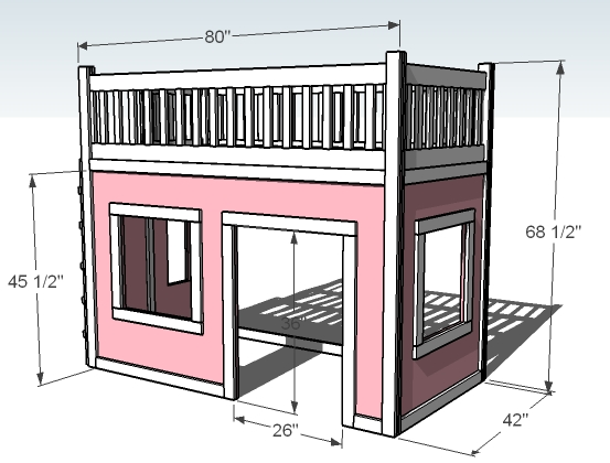 How To Make A Playhouse Loft Bed How To Instructions