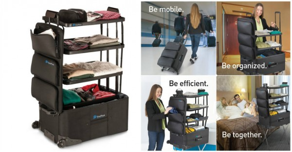 ShelfPack - Suitcase With Collapsible Shelves Built In