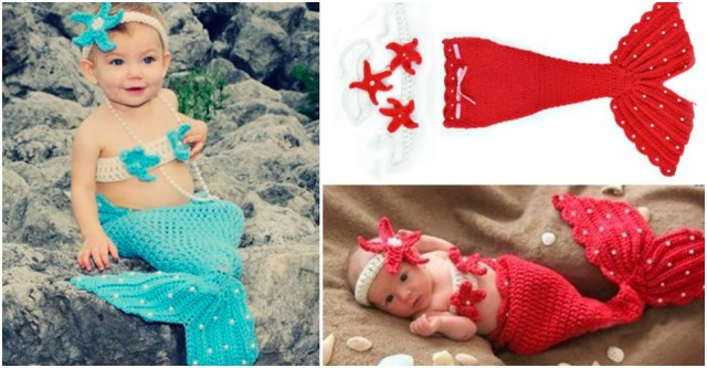 Baby Mermaid Costume 2