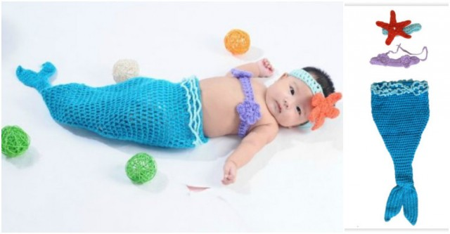 Baby Mermaid Costume 4