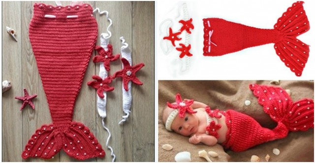 Baby Mermaid Costume Red