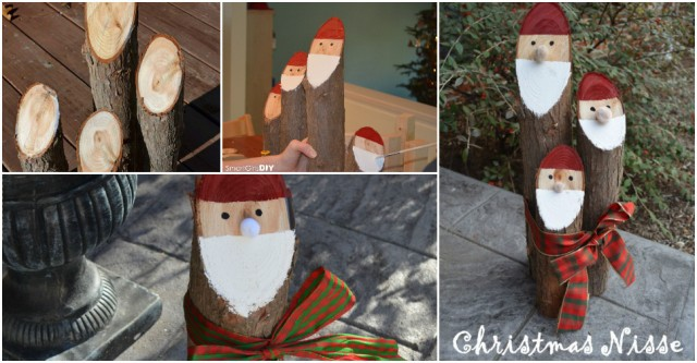Cedar Log Christmas Nisse