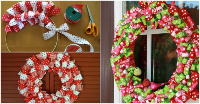 Christmas Ribbon Wreath Tutorial