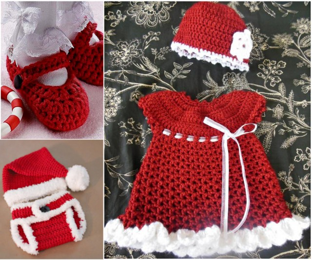 Crochet Christmas Baby Gift Set