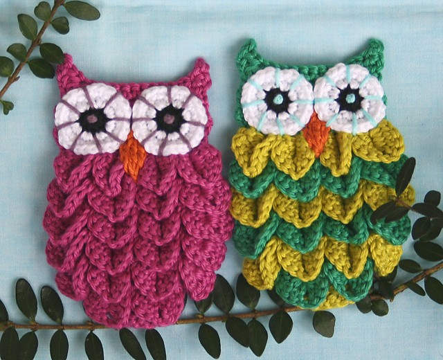 Crocodile Stitch Crochet Owl 1
