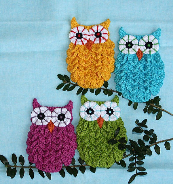 Crocodile Stitch Crochet Owl 2