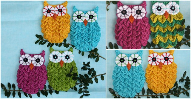 Crocodile Stitch Crochet Owl