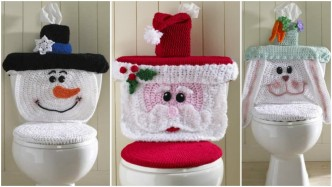 Crochet Vibrant Toilet Paper Cover Pattern | The Crochet Crowd | 187x332