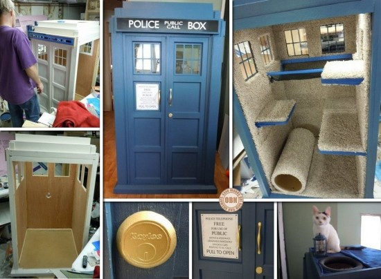 DIY TARDIS Cat Fort 1