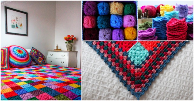 Granny Square Blanket Tutorial 1