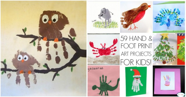 Hand & Foot Print Art Projects For Kids