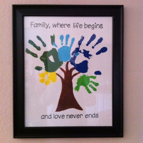 Hand Print Family Tree Wall Art 1