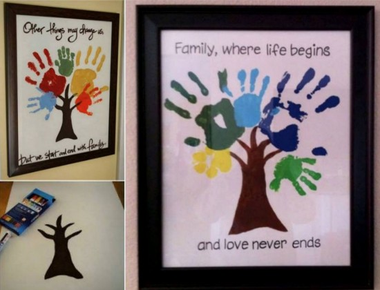 Hand Print Family Tree Wall Art 3