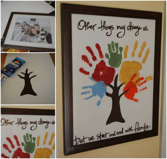 How To Make Hand Print Family Tree Wall Art How To