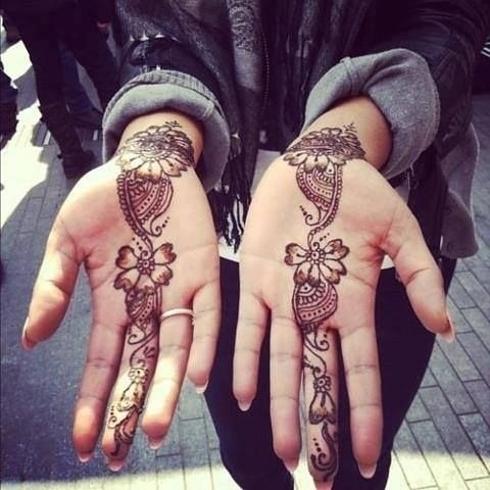Henna tattoo design 6