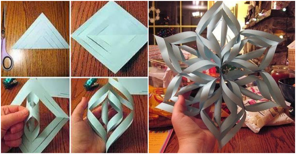 Make 3d paper snowflakes for How to make a real paper snowflake