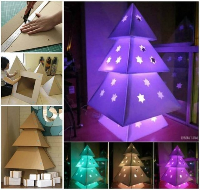 How To Make Cardboard Christmas Trees 1
