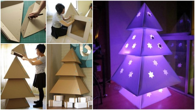 How To Make Cardboard Christmas Trees