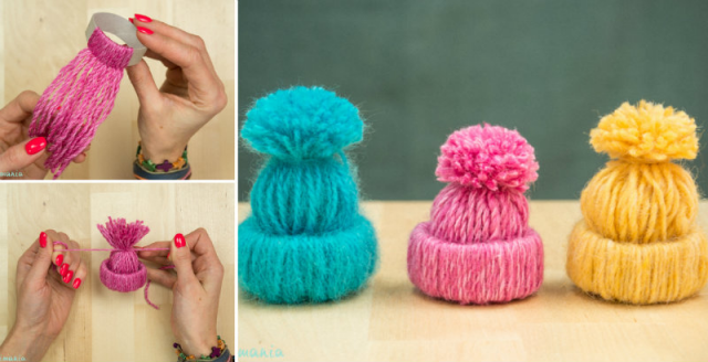 How To Make Little Yarn Hats