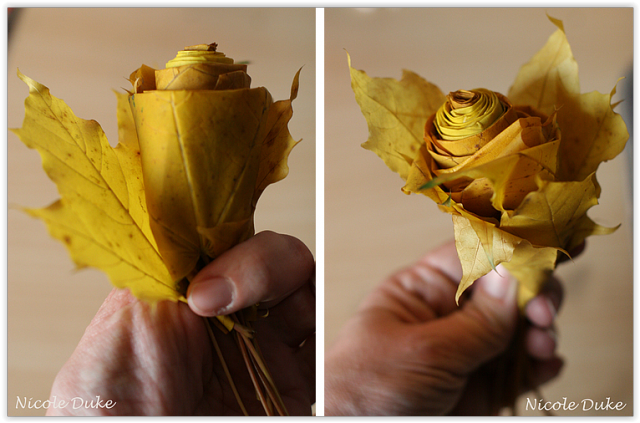 How To Make Maple Leaf Roses 12