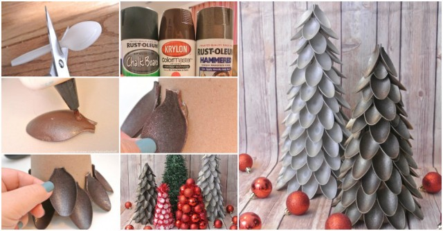 How To Make Plastic Spoon Christmas Trees