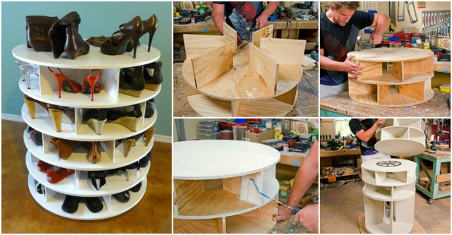 How To Make Rotational Lazy Susan Shoe Rack