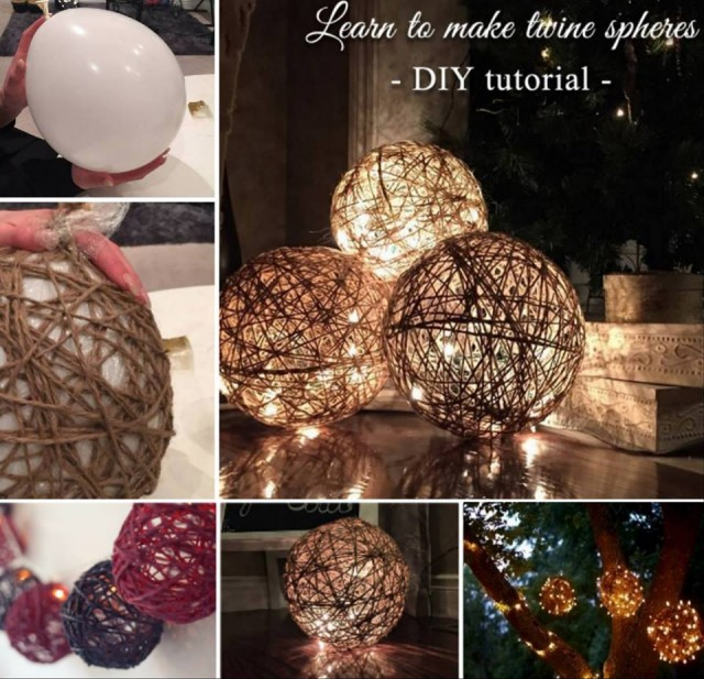 How To Make Twine Sphere Lanterns 1