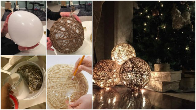 How To Make Twine Sphere Lanterns