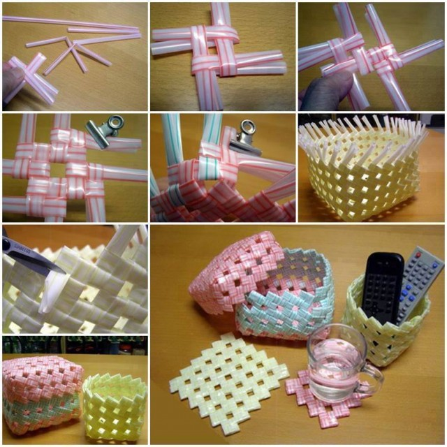 How To Make Woven Straw Storage Baskets 1