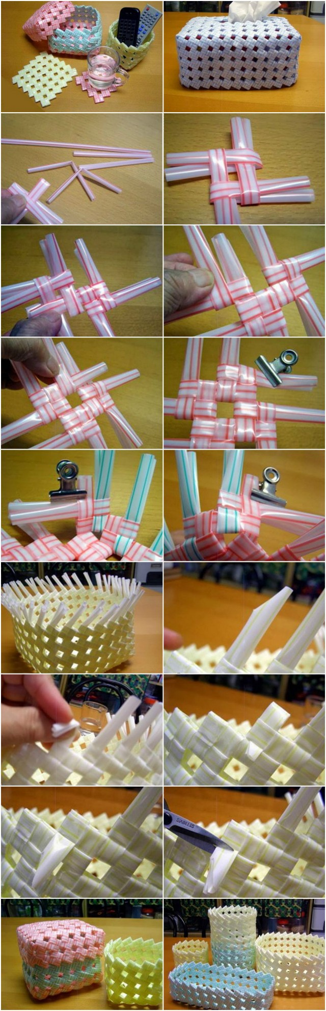 How To Make Woven Straw Storage Baskets 2