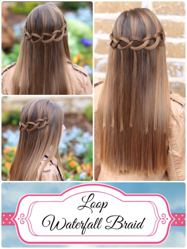How to Do a Loop Waterfall Braid 1