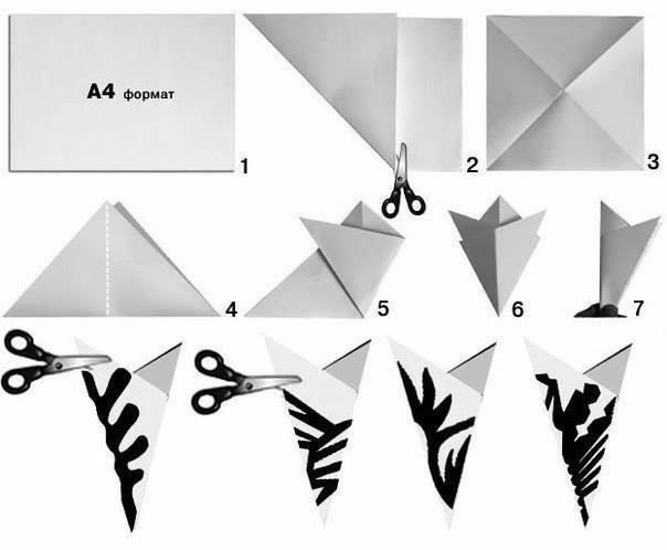 Paper Snowflake Ballerina 2