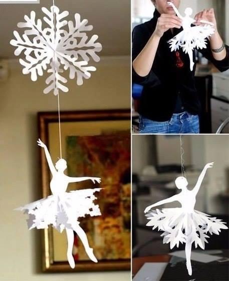 Paper Snowflake Ballerina 3
